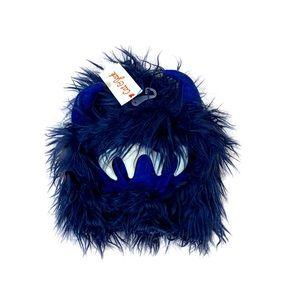 Cat & Jack Blue Monster Faux Fur Hood Hats costume